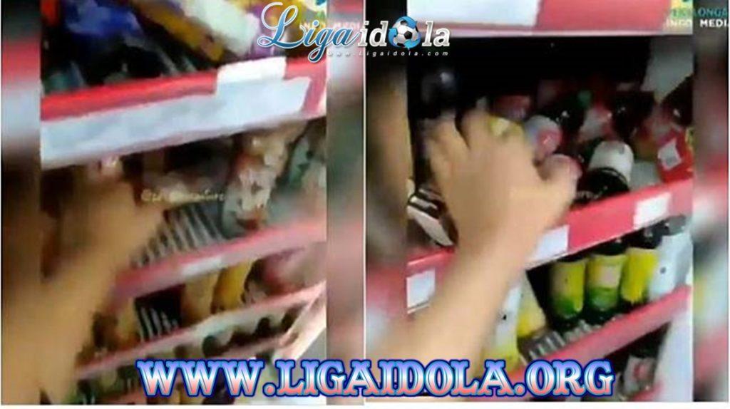 Remaja Acak-acak Kulkas Minimarket