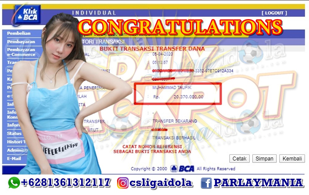 JACKPOT CASINO LIGA IDOLA TANGGAL 05 APRIL 2020
