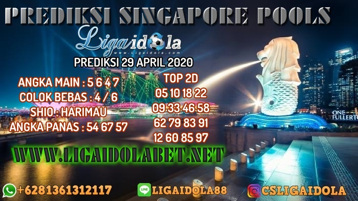 PREDIKSI SINGAPORE POOLS 29 APRIL 2020