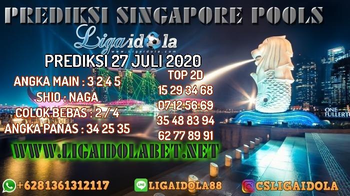 PREDIKSI SINGAPORE POOLS 27 JULI 2020