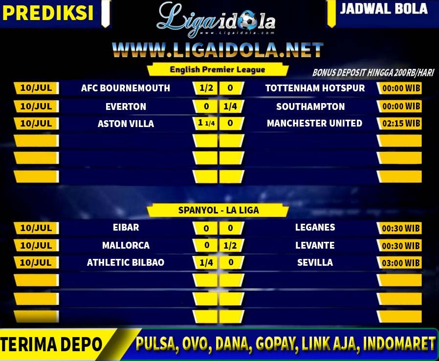 Berikut Jadwal Dan Prediksi Liga Inggris Dan Spanyol 10 July 2020