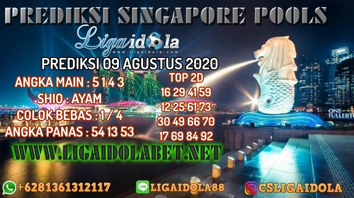 PREDIKSI SINGAPORE POOLS 09 AGUSTUS 2020