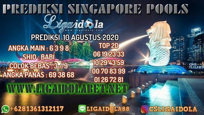 PREDIKSI SINGAPORE POOLS 10 AGUSTUS 2020