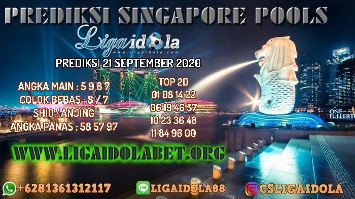 PREDIKSI SINGAPORE POOLS 21 SEPTEMBER 2020