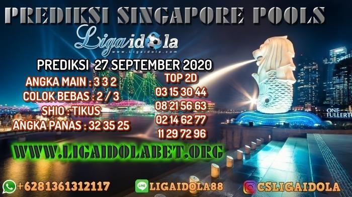 PREDIKSI SINGAPORE POOLS 27 SEPTEMBER 2020