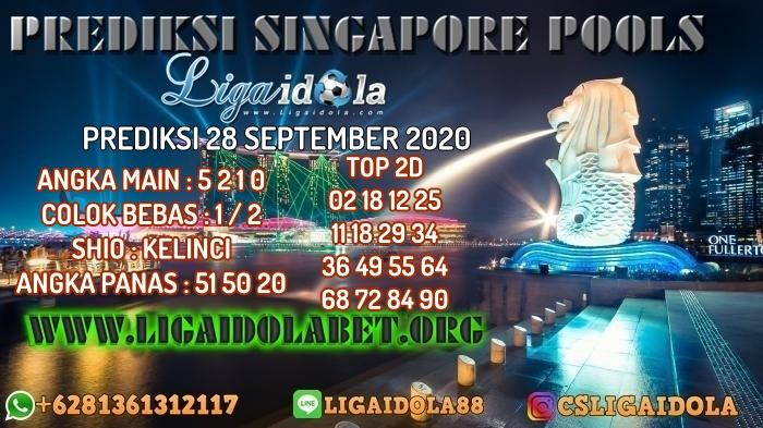 PREDIKSI SINGAPORE POOLS 28 SEPTEMBER 2020