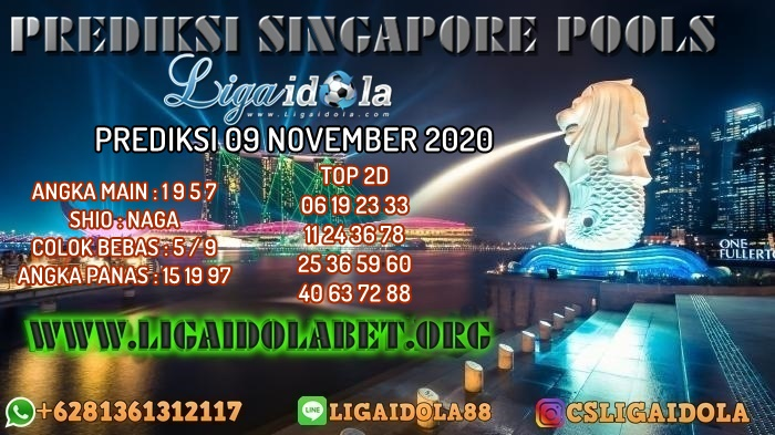 PREDIKSI SINGAPORE POOLS 09 NOVEMBER 2020