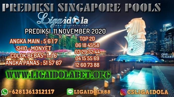 PREDIKSI SINGAPORE POOLS 11 NOVEMBER 2020