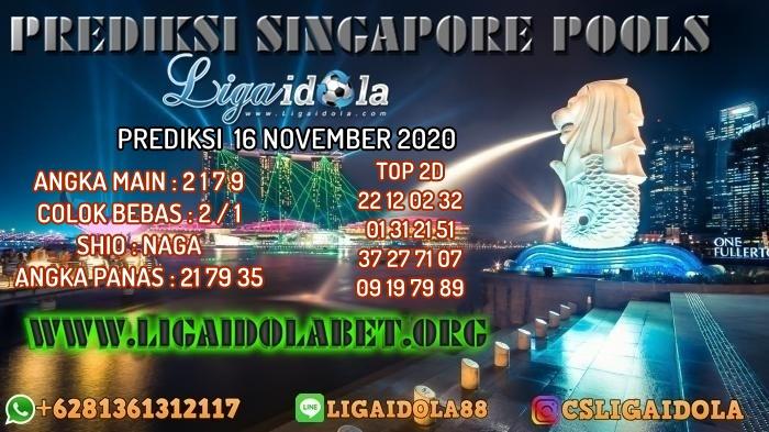 PREDIKSI SINGAPORE POOLS 16 NOVEMBER 2020