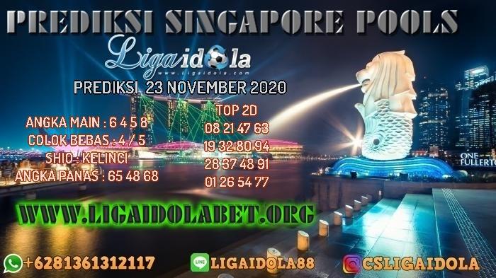 PREDIKSI SINGAPORE POOLS 23 NOVEMBER 2020