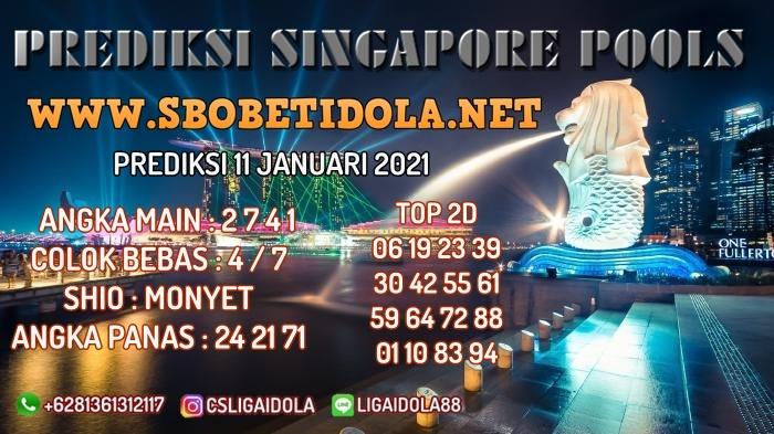 PREDIKSI TOGEL SINGAPORE 11 JANUARI 2021