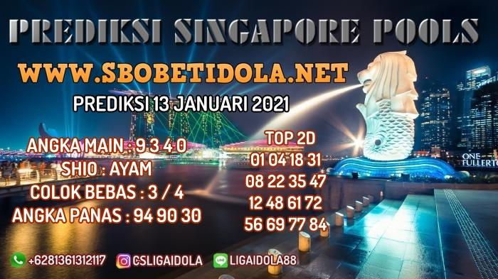 PREDIKSI TOGEL SINGAPORE 13 JANUARI 2021
