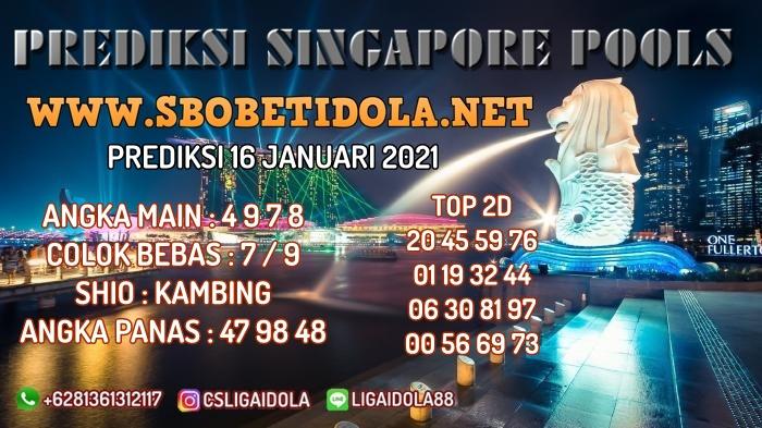 PREDIKSI TOGEL SINGAPORE 16 JANUARI 2021