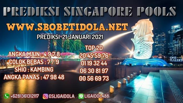 PREDIKSI TOGEL SINGAPORE 21 JANUARI 2021