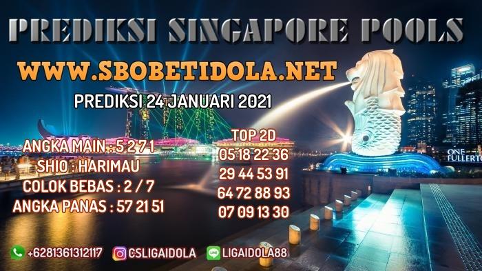 PREDIKSI TOGEL SINGAPORE 24 JANUARI 2021