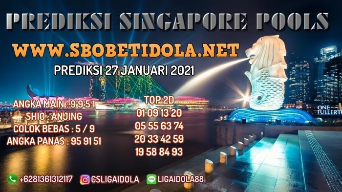 PREDIKSI TOGEL SINGAPORE 27 JANUARI 2021