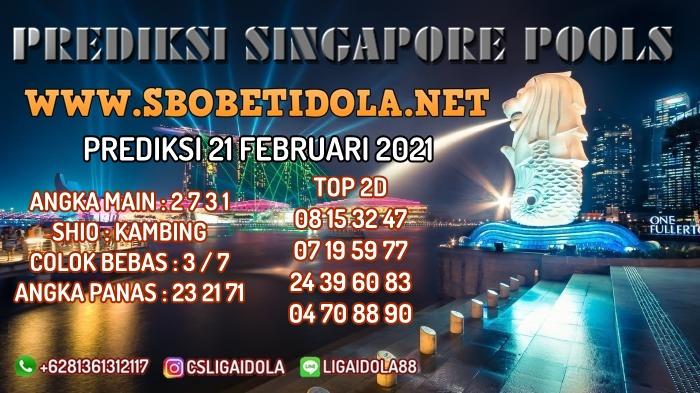 PREDIKSI TOGEL SINGAPORE 21 FEBRUARI 2021
