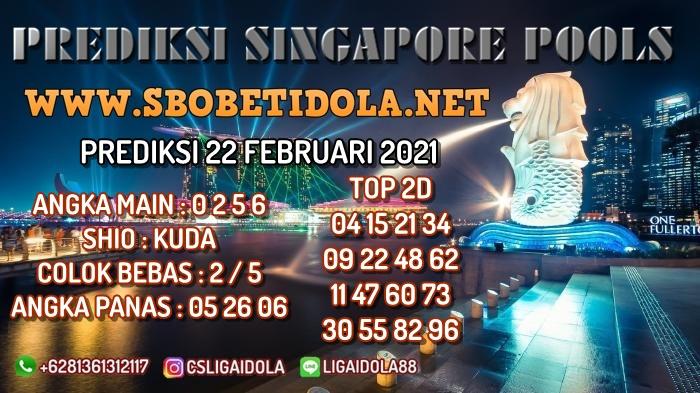 PREDIKSI TOGEL SINGAPORE 22 FEBRUARI 2021