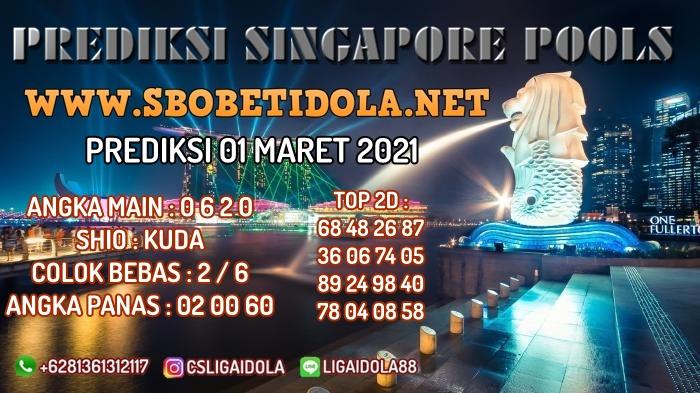PREDIKSI TOGEL SINGAPORE 01 MARET 2021