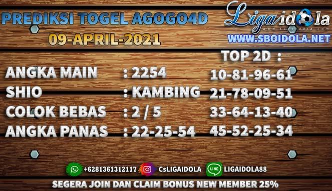 PREDIKSI TOGEL AGOGO4D 09 APRIL 2021